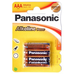 Батарейка ААA Panasonic Alkaline Power (LR03REB/4BPR)